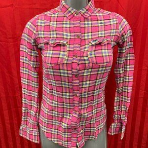 Abercrombie & Fitch Women's Small Pink Blue Plaid